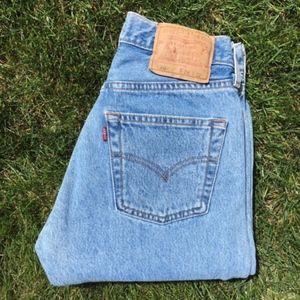 Levis 501 Vintage High Waisted Wedgie Denim Jean